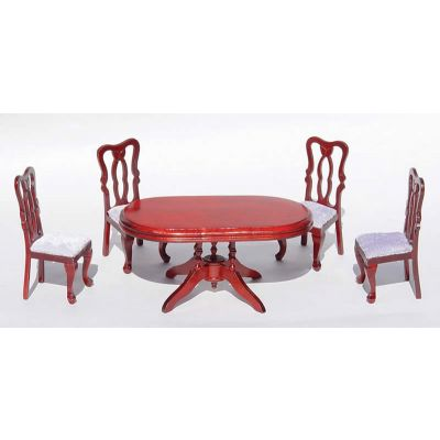 Fancy oval  table + 4 chairs