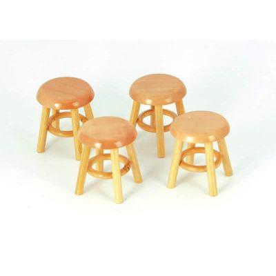 Set 4 stools pine