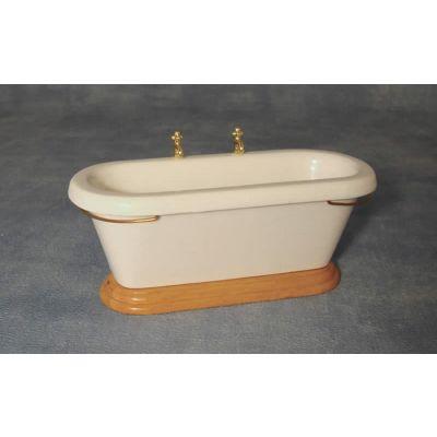 Bath w side taps