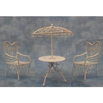 Parasol Table and 2 Chairs