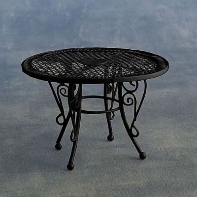 90mm table black