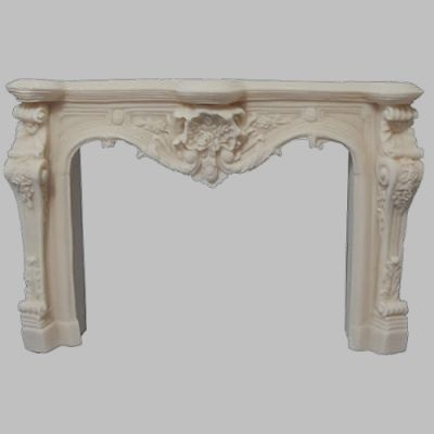 Carved Fireplace White
