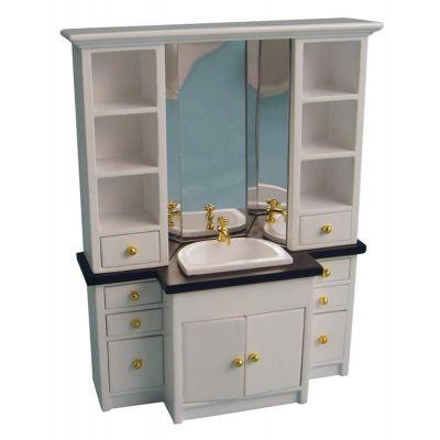 Delux White Sink Unit