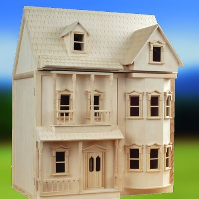 The Ashburton Dolls House, unpainted. (BUILT-COLLECTION ONLY)