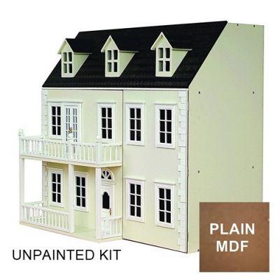 Glenside Grange Dolls House, unpainted.
