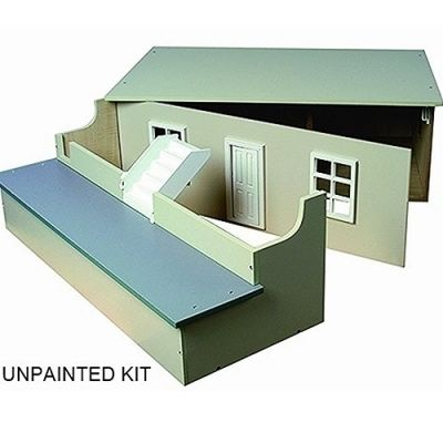 Large basement, unpainted.