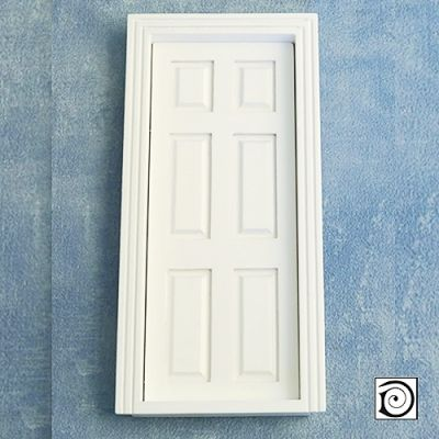 Interior Door inc. 2  Frames , as DIY001 but painted white, To fit apperture 173 x 73mm