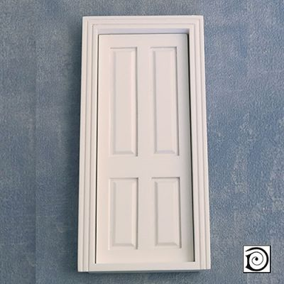 Interior Door  (4 panel), as DIY049 but painted white,  To fit apperture 173 x 73mm