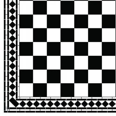 A3 B&W Floor Tiles Card Checker