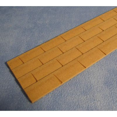 "Wood Sheet of Roof Tiles 14""x2"""