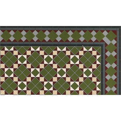 Floor tile card, A3 approx