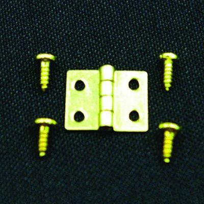 Hinges & Screws pk10, 8 x 8mm approx when opened up