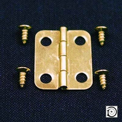 Hinges & Screws pk10, 18mm x 12mm when opened up