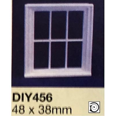 Victorian 6 Pane plastic Window Frames, 1/24th scale (ONLY 4 LEFT)