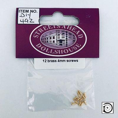 12 tiny brass screws, 4mm