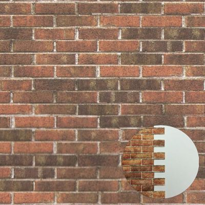 Embossed Dark Brick Sheet