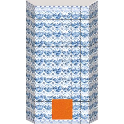 Tiled Oven Sheet Blue
