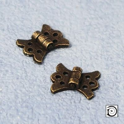 Butterfly Hinges, for 1/12th scale miniature furniture