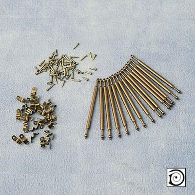 Set of 15 Stair Rods & 30 Brackets