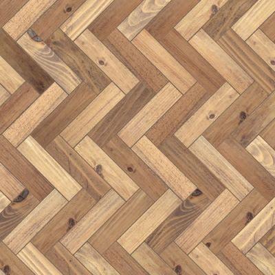 A3 gloss card two tone parquet flooring