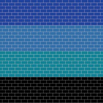 A3 Coloured metro tiling