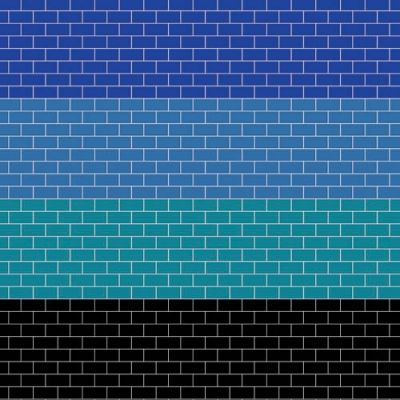 A3 Embossed coloured metro tiling