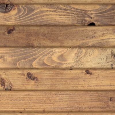 A3 gloss card old light pine floorboards,