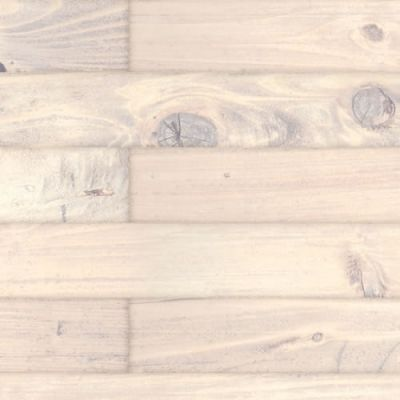 A3 gloss card old pine floorboards, Whitewashed