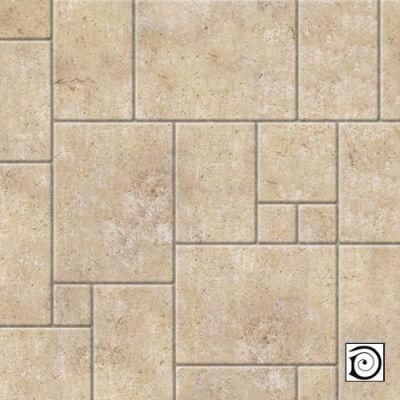 Embossed limestone random tiles, A3 card