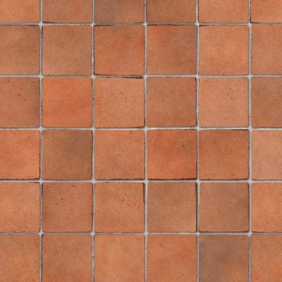 Embossed Terracotta small tiles, A3 card