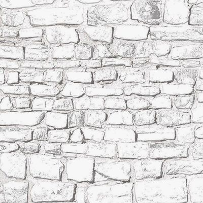White washed stone wall, Embossed A3 card