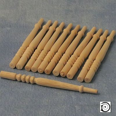 Spindles, Pk12 , 68mm long x 4mm dia