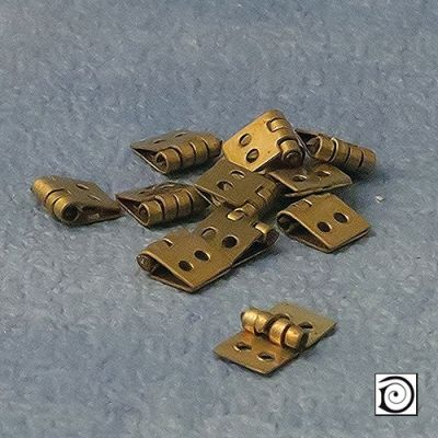 Brass Hinges, 12 pcs,5 x 10mm when opened up