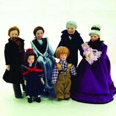 7pc Victorian Family