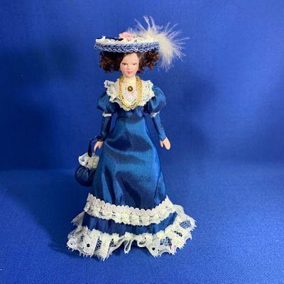Victorian Lady Blue Dress