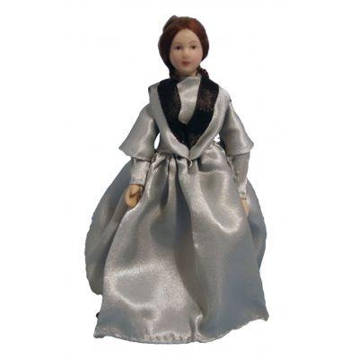 Victorian Lady Grey Dress