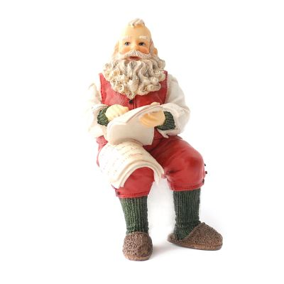 Seated Father Christmas Resin