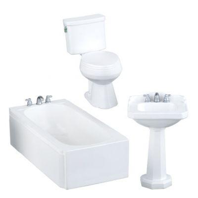 Modern White Bathroom Set