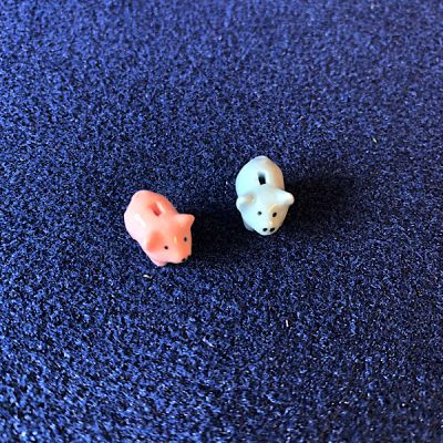 Pink & Blue Piggy Banks (2pc)