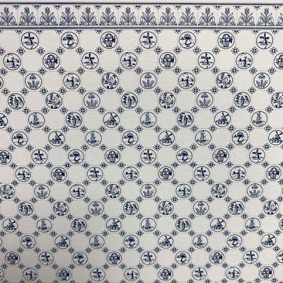 Dutch tile, blue, 1/24th scale