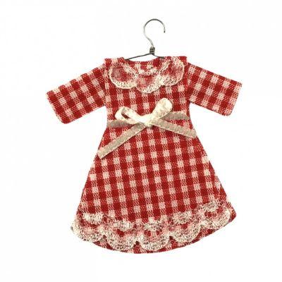 Red Gingham Child's Dress on Hanger