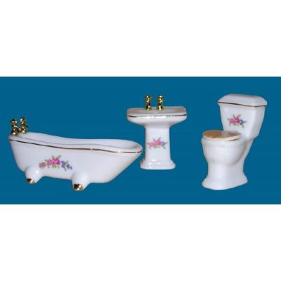 Floral Ceramic Bathroom 1/24th