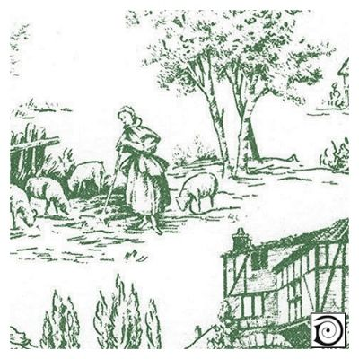 Toile de Jouy green