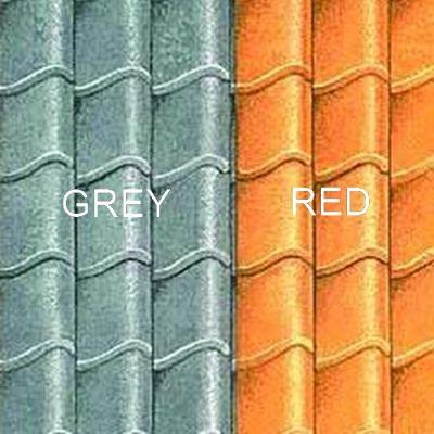 Grey Pantile Roof Paper, A3