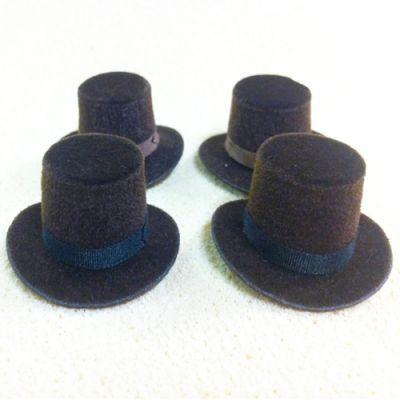 Top Hat (Brown), each