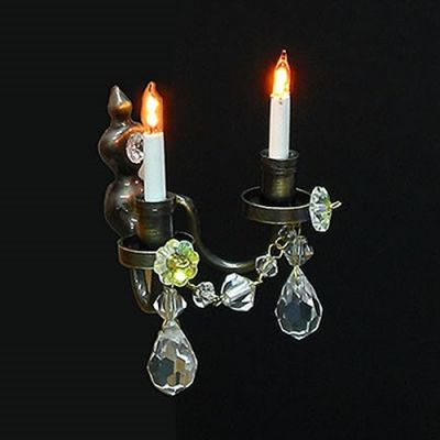 Twin Real Crystal Wall Chandelier (Nostalgic)