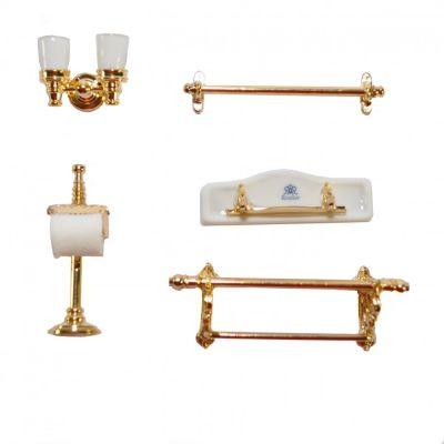 Bath Accessories. White